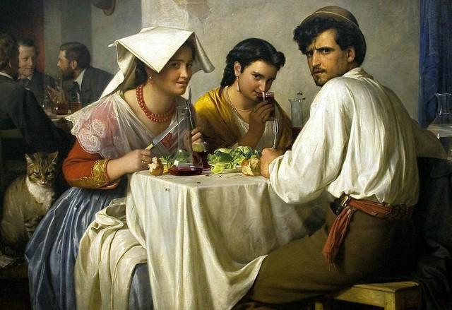 Bloch, Carl (1834-1890) - In a Roman Osteria