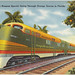 The Orange Blossom Special going through orange groves in Florida by Boston Public Library