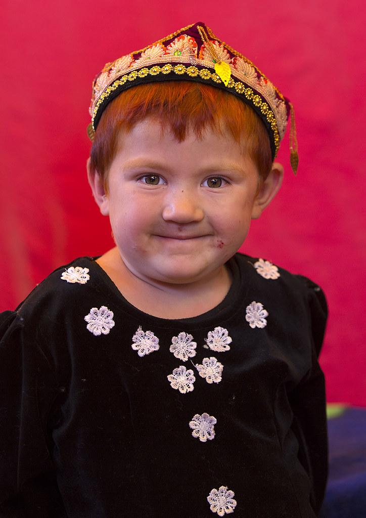 Uyghur Boy With red Hair Serik Buya Market Yarkand Xinj