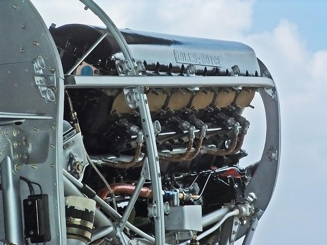 Hawker Hurricane R4118 Merlin engine