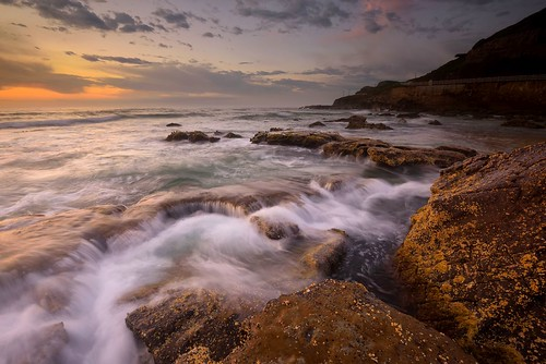 ocean seascape sunrise rocks waves australia newsouthwales lowtide aus ndfilter newcastleeast nikon1635mmf4 nikond750