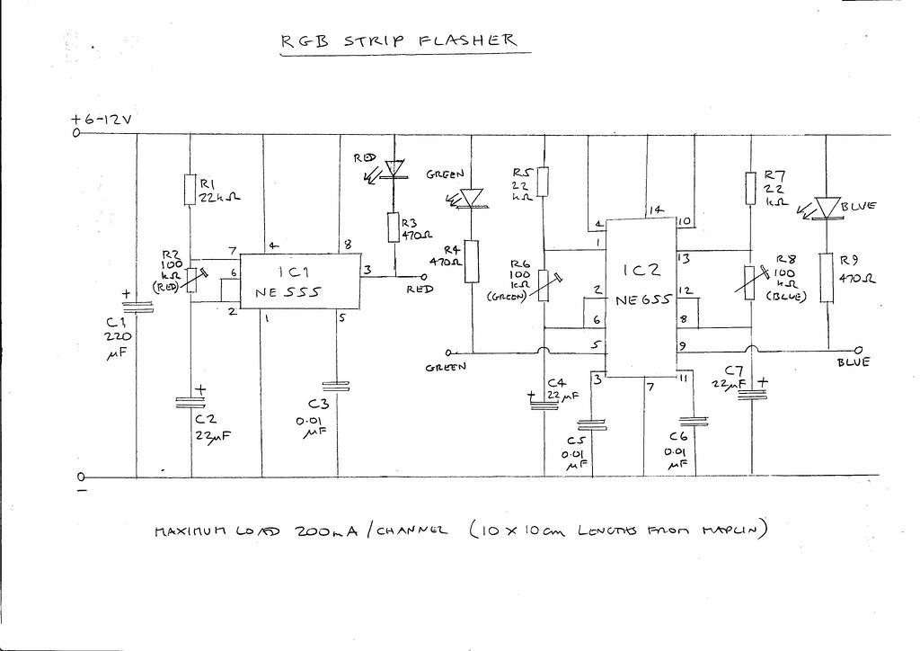 rgb flasher - circuit diagram | by maxim demian