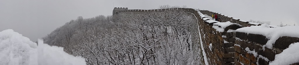 The Great Wall of China in the Snow