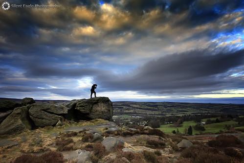 ilkley cowandcalfrock silenteaglephotography dusk yorkshire silhouettes rock plants iso800 1640 ƒ56 benrhydding england
