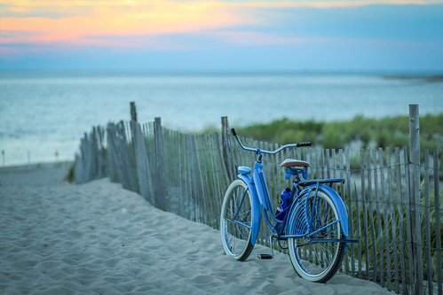 capehenlopen blue beach color sunset water outdoor bike unitedstates delaware bay bicycle dusk lewes us