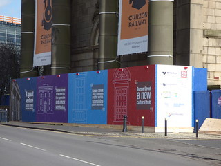HS2 hoardings artwork - Curzon Street Station | by ell brown