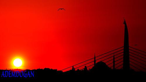 sunset red sky colors turkey landscape sonnenuntergang outdoor türkiye himmel istanbul türkei