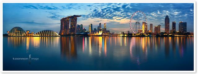 Singapore - Marina Resevoir Panorama (92 x 33cm)