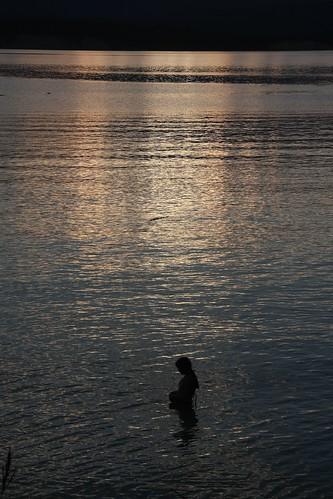 "sunset lake beach girl night swim montana koocanusa ""flickraward"" ""flickraward"