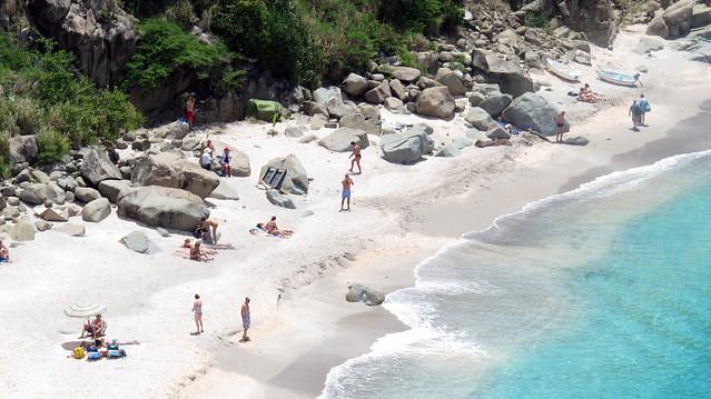 St Barts -    Shell beach from overlook  - iIMG_4714