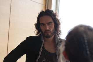Russell Brand visiting Vienna International Centre