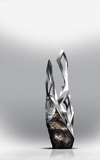 ONYX-Vase-Meteorite-&-3D-Printed-Metal-Sketch