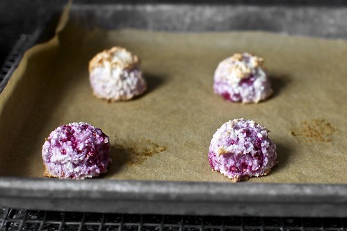muddle raspberry coconut macaroons | by smitten kitchen