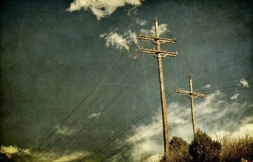 sky clouds canon landscape afternoon trails openspace textured powerpoles kencaryl t1i applesandsisters