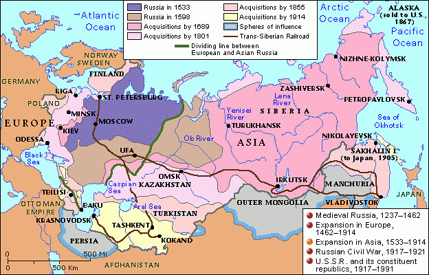 Map Of Asia 1914.Russia 1533 1914 Expansion In Asia C 2012 Scholastic Flickr