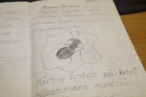 Myran Mårten - alster från tredje klass   by Helena Ferry