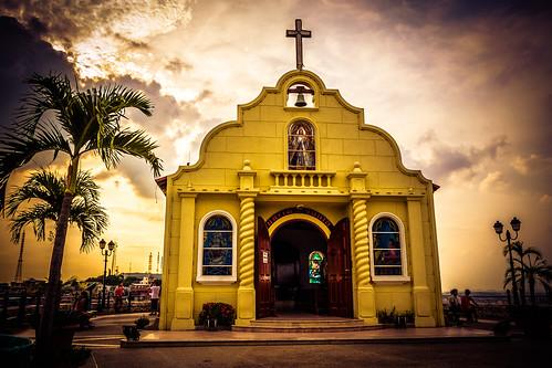 sunset sky orange sun sol clouds nikon iglesia colores cielo fotografia ocaso vr dorado coloridos 18140 d3100