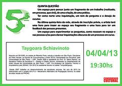 5.ª Questão Taygoara Schiavinoto - 04-04-2013
