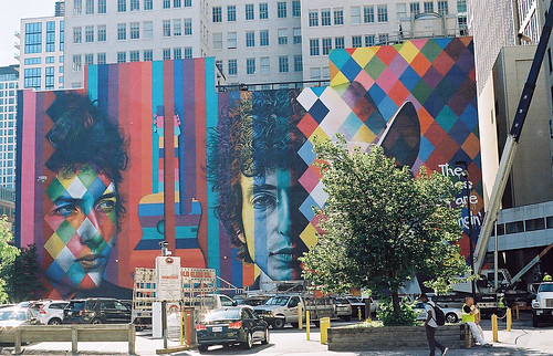 """The Times They Are A-Changin'"" mural 