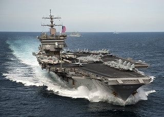 USS Enterprise is underway with the Enterprise Carrier Strike Group in the Atlantic Ocean. | by Official U.S. Navy Imagery