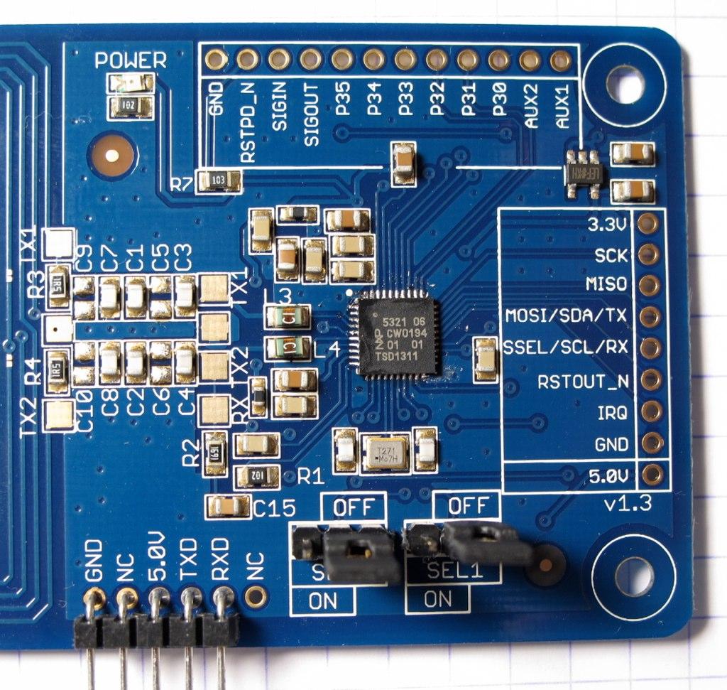 AdaFruit PN532 NFC/RFID breakout board (detail)   The board