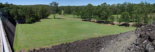 panorama green grass view structures australia golfcourse nsw manmade kyogle toonumbardam
