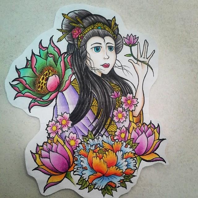 Estudos Gueixa Geisha Flores Flowers Peonia Peony Flickr