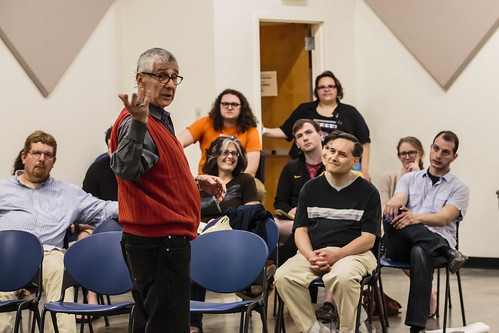 Tesseract Theatre Company hosts a workshop directing workshop on Cymbeline with Robert Moss at the Regional Arts Commission | by shakesfestSTL