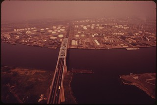 Gulf And Arco Plants. Penrose Bridge Across The Schuykill River, August 1973