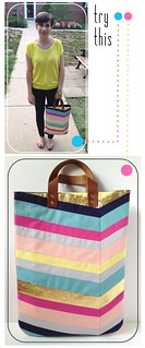 Try This - Art-Inspired Chevron Tote Bag | by fabricpaperglue
