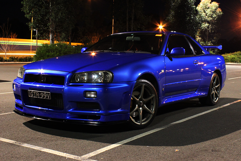 Nissan Skyline R34 Gtr Vspec Bayside Blue Night Photo Flickr