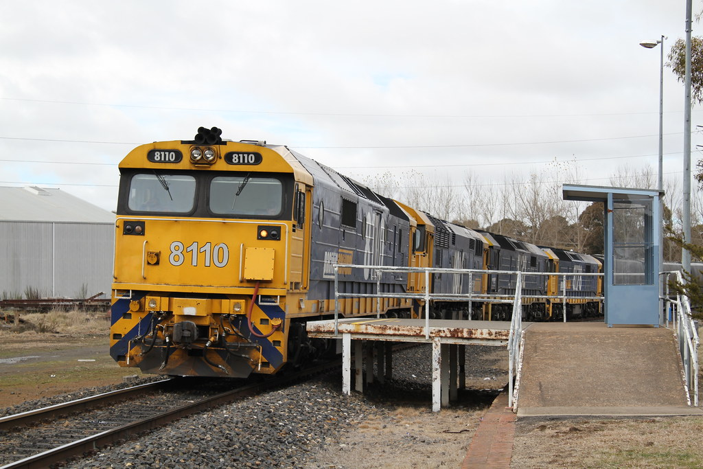8110,8005,8135 and 8178 with 9837 at Orange East Fork. 29/8/12. Ref IMG_7D5665 by Matthew Monty