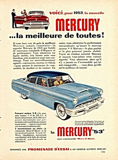 1953 Mercury 4-Door Sedan Ad (Canada)