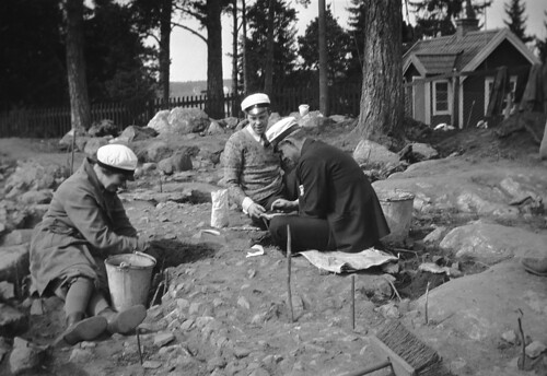 Archaeological excavation in Nälsta, Uppland, Sweden