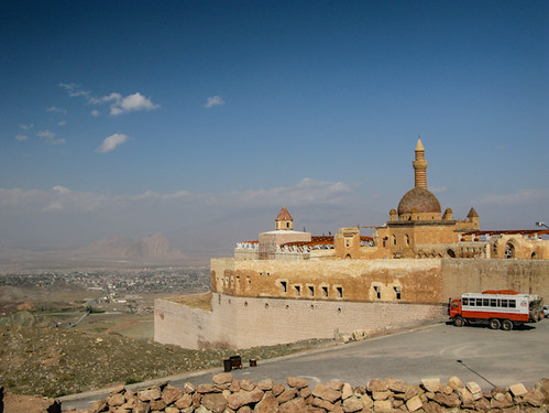 Ishak Pasha Palace looking out over nearby town | by retrotraveller