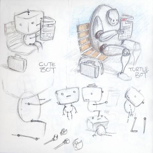 Sketchbook 1 p14, Moleskine robots 3 - 200908xx | by steevbishop