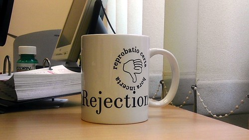 """Journal of Universal Rejection"" coffee mug 