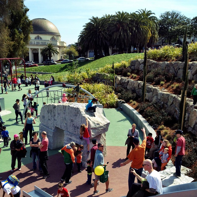 The Hellen Diller playground in Dolores Park