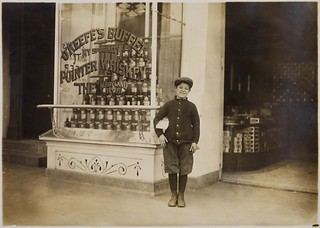 Joseph Bernstein, a ten year old news-boy who had been selling in saloons along the way, said he makes a dollar a day selling until 7:30 P.M, April 1912