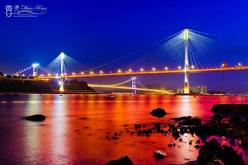 bridge night image hong kong 香港 夜景 ting kau 汀九橋 colorphotoaward bestcapturesaoi