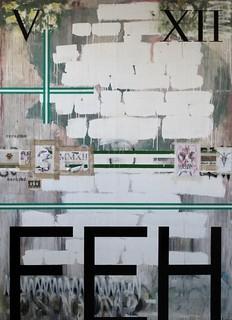 Zavier Ellis 'As Above, So Below', 2012 House paint, pencil, collage on board 275x200cm