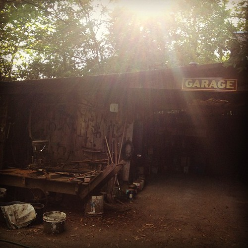 garage in the woods #latergram | by sarahwulfeck