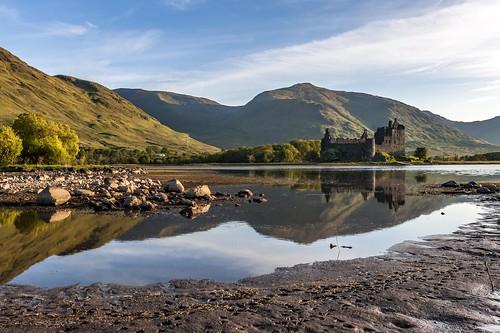 castle water sunrise mirror see scotland nikon argyll may ruine mai sonnenaufgang spiegelung springtime frühling schottland lochawe bute burgruine kilchurncastle riverorchy a819 d700 albertwirtz