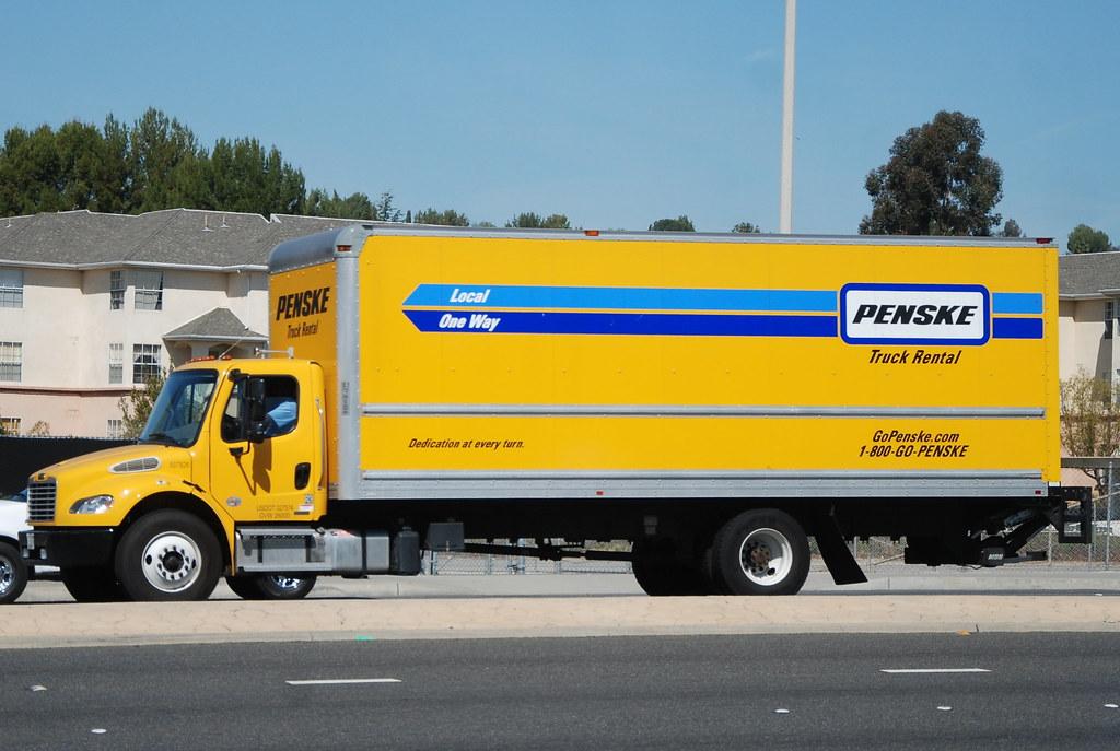 Penske Truck Rental Freightliner Box Truck Navymailman Flickr