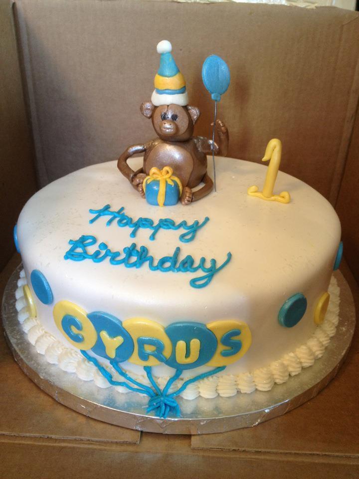 Magnificent Monkey First Birthday Cake Liz Esposito Flickr Personalised Birthday Cards Veneteletsinfo