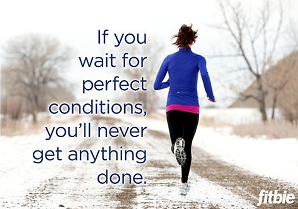 Running Motivation Flyer Girl Running In Winter Motivatio