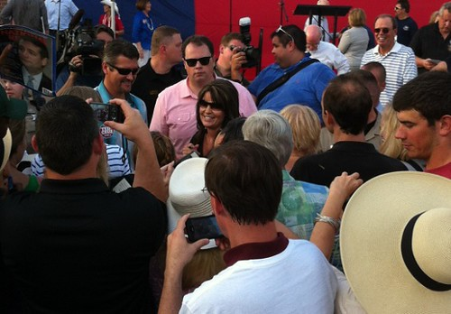 Sarah Palin in the crowd at Texas Patriots PAC / KWTP co sponsord rally at The Woodlands   by kwtp2012