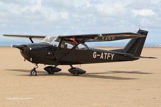 G-ATFY - 1965 Reims built Cessna F172G Skyhawk, at Knott End for Lancashire Landing 2011