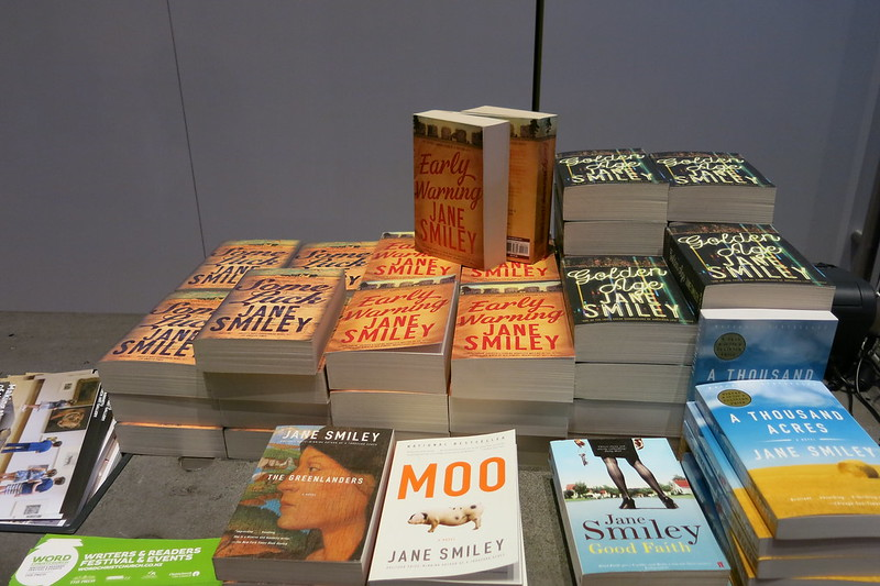 UBS Book stall - Jane Smiley - WORD Christchurch