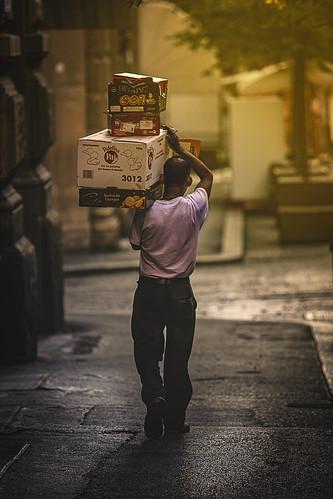 street city food yellow sunrise citylife streetlife bologna worker streetphotographer ilobsterit enricodot